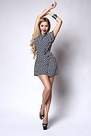 Платье мод №554-3, размеры 46-48 синий ромб