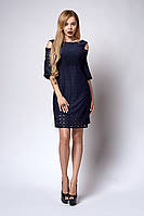 Платье  мод 708-1 размер,44,46 темно-синее