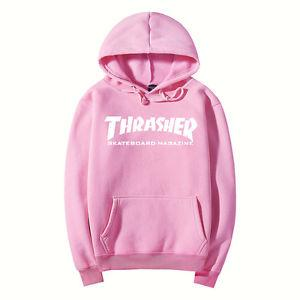 Толстовка розовая Thrasher Flame Logo | Качественная реплика