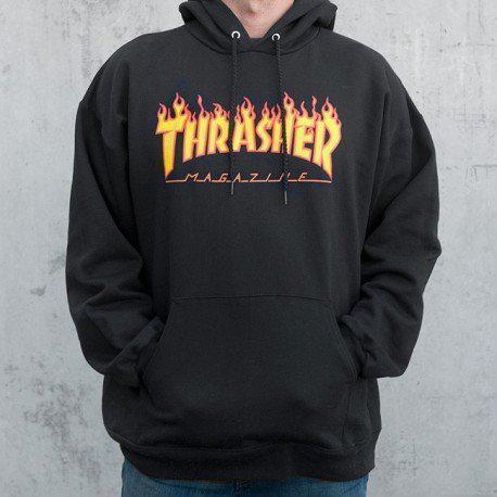 Худи мужская Thrasher Flame Oversize |
