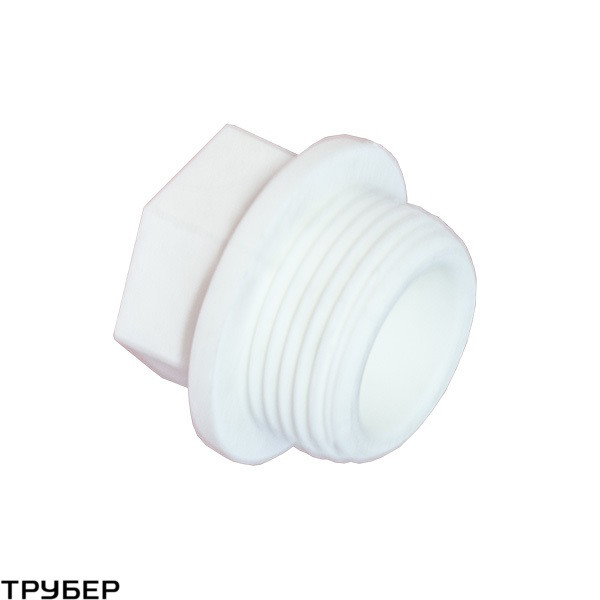 Заглушка резьбовая D 25 полипропилен KALDE (белое)