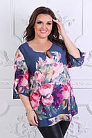 Блуза женская большого размера 56,58,60,62, фото 1