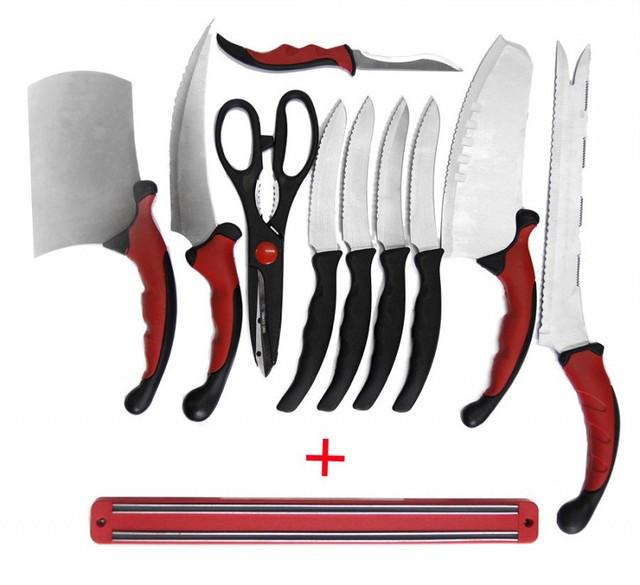 Набір кухонних ножів Contour Pro Knives (Контр Про) з 10 предметів + подарунок магнітна рейка