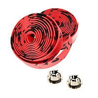 Обмотка для руля велосипеда, Черно - красный 1, фото 1
