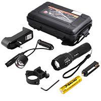 Оружейный фонарик с выносной кнопкой и зумом, крепление, зарядное устройство, фото 1