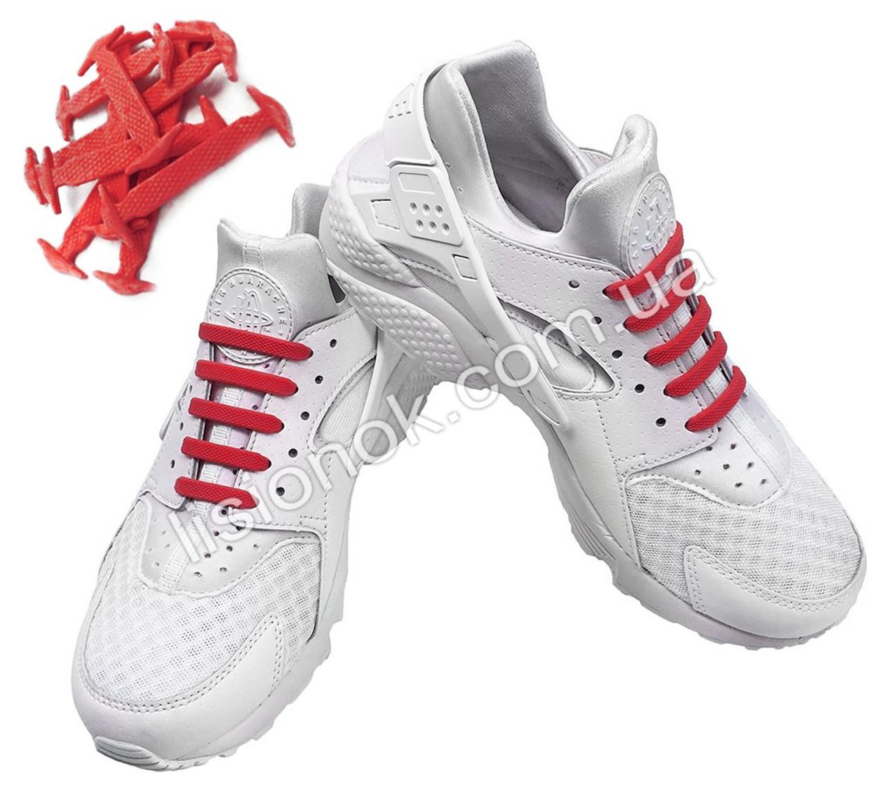Красные силиконовые шнурки для подростков и взрослых 12 шт.