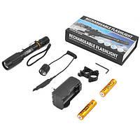 Мощный подствольный фонарик на 2 аккумулятора + выносная кнопка, крепление в комплекте, фото 1