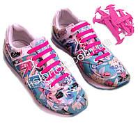 Розовые силиконовые шнурки для подростков и взрослых 12 шт.