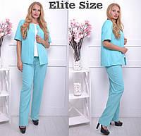 Женский костюм: жилет и брюки, в расцветках, р-р 44-62 НО-26-0518
