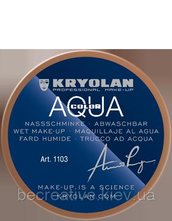 Коричневый  аквагрим AQUACOLOR 55мл(оттенок NB 4)