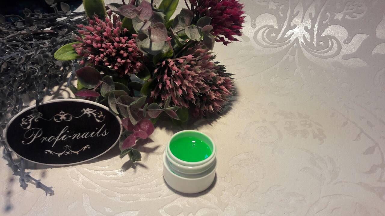 Гель цветной Eva nails неоново зелёный