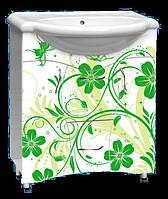 """Мебель для ванной комнаты с рисунком """"Разное №1 зеленый"""""""