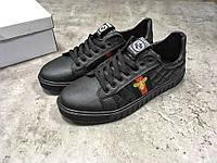 Кроссовки мужские в стиле Gucci код товара Z-1341. Черные