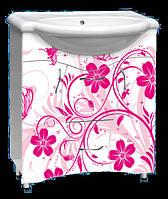 """Мебель для ванной комнаты с рисунком """"Разное №1 розовый"""""""
