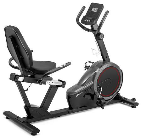 Горизонтальный велотренажер магнитный Hop-Sport HS-060L Pulse Grey до 130 кг / гарантия 2 года