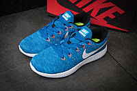 Кроссовки мужские Nike Lunarepic Flyknit, синие, размер 42.