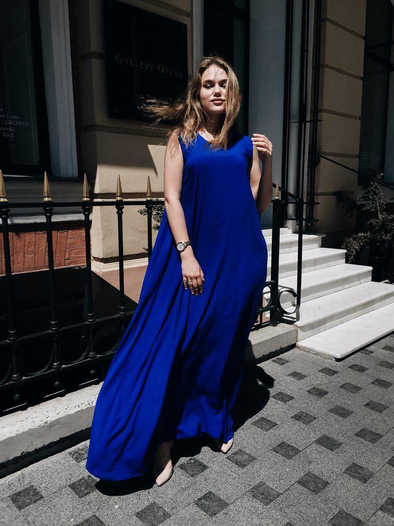 07fecc5202afc80 Длинное летнее платье свободного кроя