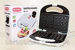 Вафельница электрическая Rotex RSM120-W для приготовления печенья и вафель