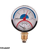 Термоманометр нижним подключением 1/2' D80мм 120*С 4 бар SD1724B Sandi Forte