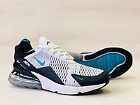 Кроссовки мужские в стиле Nike Air Max 270 код товара 4S-1088. Белые с черным