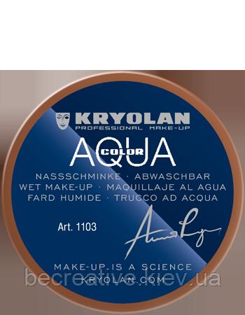 Коричневый аквагрим AQUACOLOR 55мл(оттенок 10 w)
