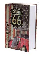 Книга-сейф MK 1849-6 (Route 66) с замком, металл