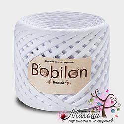 Трикотажная пряжа Бобилон Micro 3-5 мм, белый