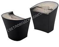 """Каблук женский """"Kadir"""", 6.0 см, черный мат, 39-40р"""