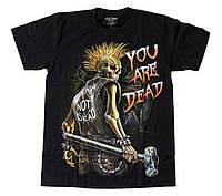 Футболка Punk's Not Dead - You are Dead (светится в темноте), Размер M