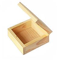 Шкатулка деревянная квадратная, 10х10х5 см Albero