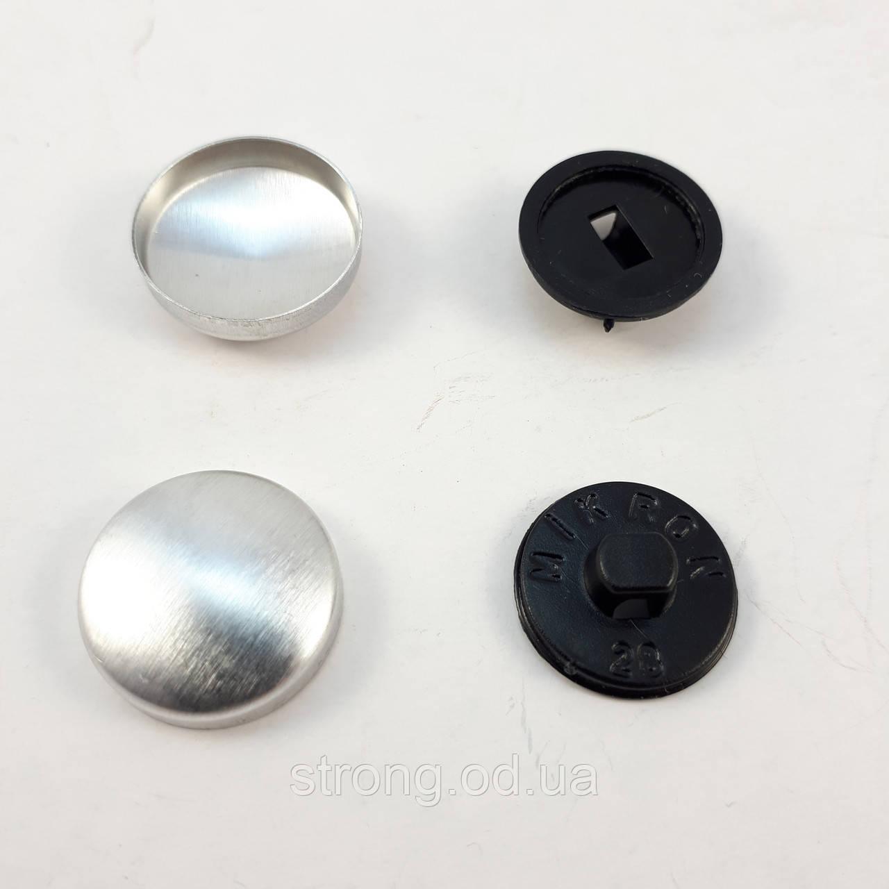 Пуговица под обтяжку на пластиковой ножке №28 - 16,5 мм Черная
