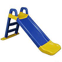 Дитяча гірка для малюків жовто-блакитна, збірна, 0140/03