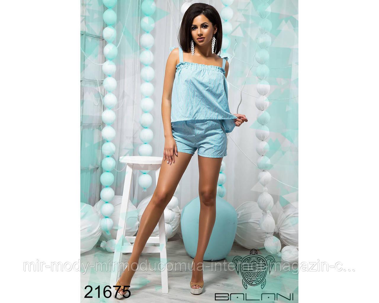 Легкий костюм с шортами - 21675 (бн)