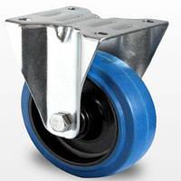 Неповоротное колесо диаметром 125 мм из эластичной резины, роликовый подшипник