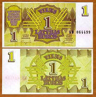 Латвия / Latvia 1 Rublis 1992 Pick 35 UNC