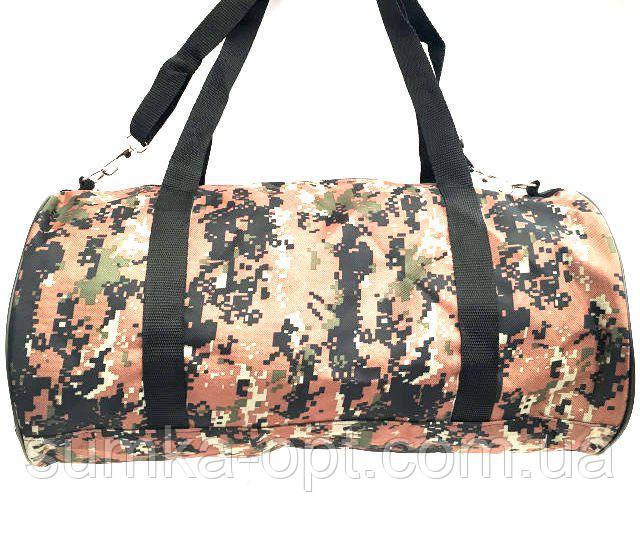 Военные дорожные сумки камуфляжные (камуфляж коричневый)24*47
