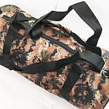 Військові дорожні сумки камуфляжні (камуфляж хакі)24*47, фото 3