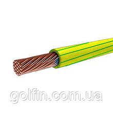 Установчий провід ПВ 1 10 жовто-зелений Интеэлектро