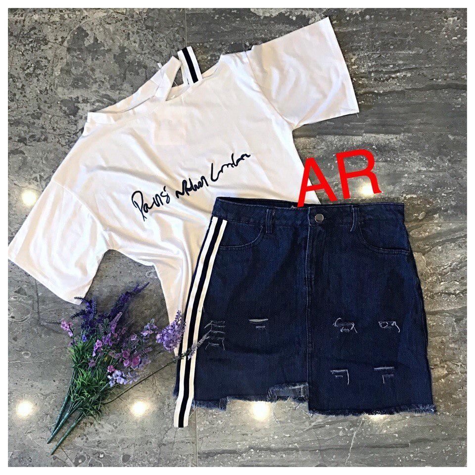 70db454dd2b312 Костюм футболка и джинсовая юбка (фабричный Китай) Качество люкс , цена 620  грн., купить в Черновцах — Prom.ua (ID#716989840)