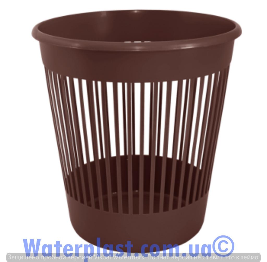 Корзина для бумаг 12 литров коричневая