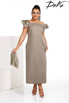 Льняное платье с поясом, фото 2