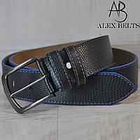 Ремень мужской джинсовый(темно-синий) заменитель  45 мм - купить оптом в Одессе
