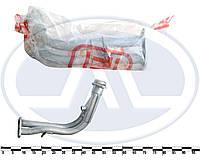 Труба приемная глушителя ЗАЗ 1102, с отводом под датчик (пр-во ТМК165)