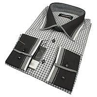 Мужская приталенная рубашка Negredo 0350 Н Slim С размер L с отделкой