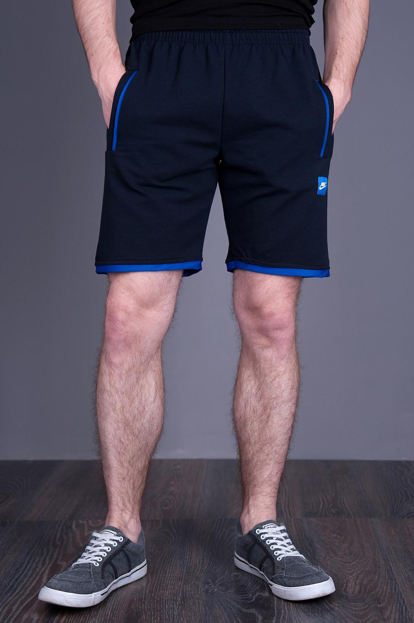 Чоловічі трикотажні шорти NIKE, темно-синього кольору