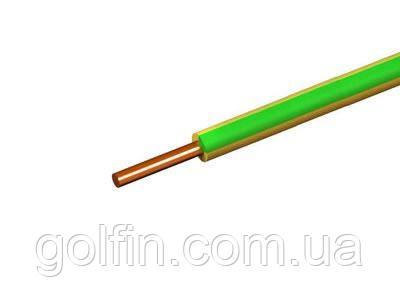 Установочный провод ПВ 1 4 желто-зеленый Интеэлектро
