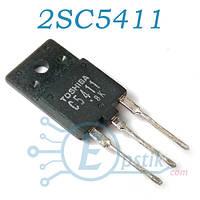 2SC5411, мощный высоковольтный NPN транзистор, 600В, 14А, TO3P
