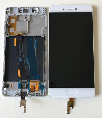 Дисплей (экран) для Xiaomi Mi5s с сенсором (тачскрином) и рамкой белый Оригинал
