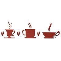 Трафарет многоразовый 10х24 см Кофе