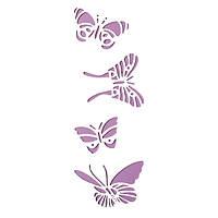 Трафарет 11х33 см Чотири метелики